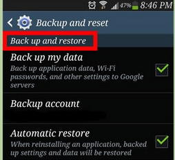 steps to reset android device