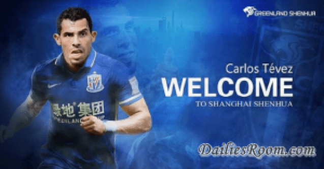 After china transfer, Carlos Tevez becomes Highest paid footballer, Makes $80 per minute