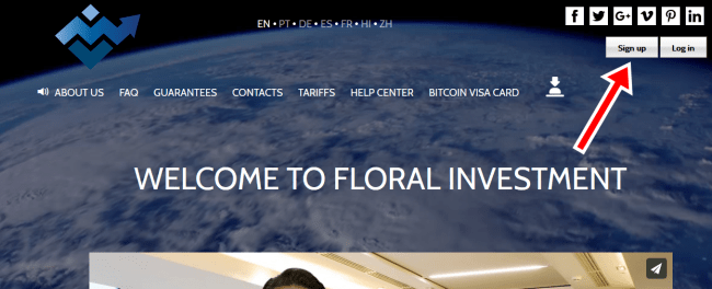 Floral Investment Sign Up | Floral Investment Registration Form | FloralInvestment.com Login