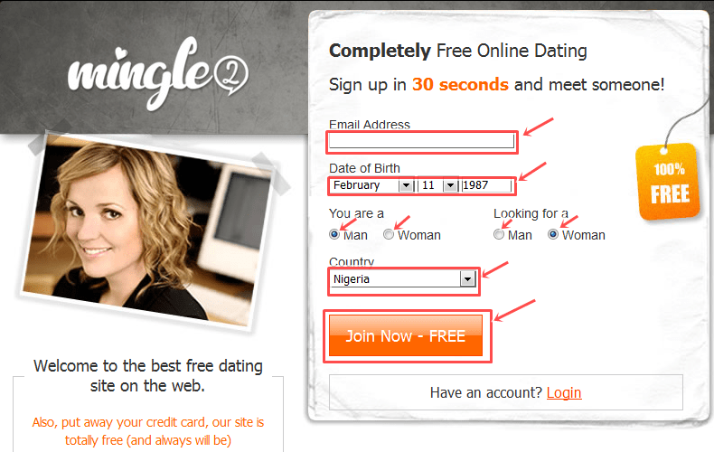 Www mingle2 com sign up