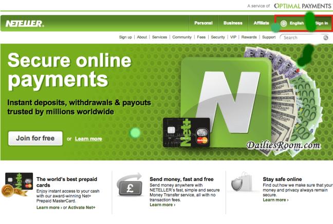 Create Neteller account free | Neteller account free registration | sign up for Neteller | www.Neteller.com