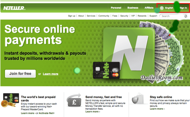 Create Neteller account free | Neteller account free registration | sign up for Neteller | www.Neteller.com