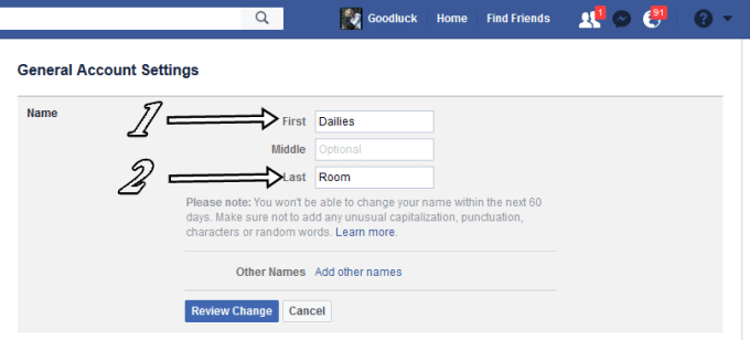 Infography to Change Fb Account