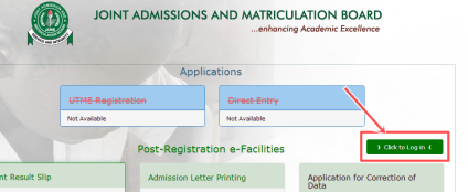 Jamb 2017/2018 Registration: Create JAMB 2017 Profile Account free | Login to JAMB Account