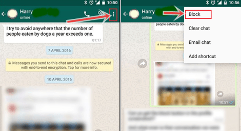 How to Block/unblock Whatsapp Contact on Android Device