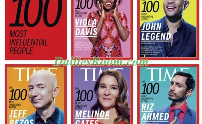 Complete List of 100 Most Influential People 2017 revealed by TIME Magazine