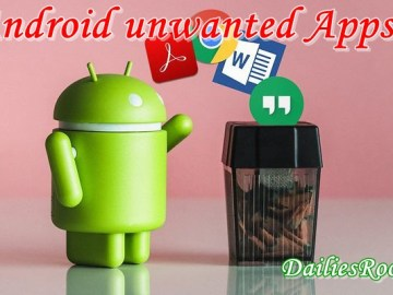 How to disable/Uninstall Unwanted Android Apps | Delete And disable Apps