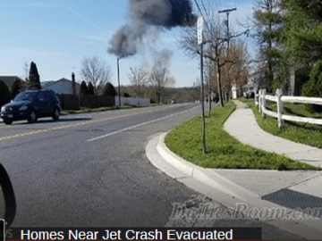 U.S Military Fighter Jet F-16 crashes Near Joint Base Andrews, in Maryland