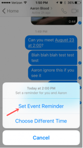 How to set Facebook Messenger Reminder on Android Device