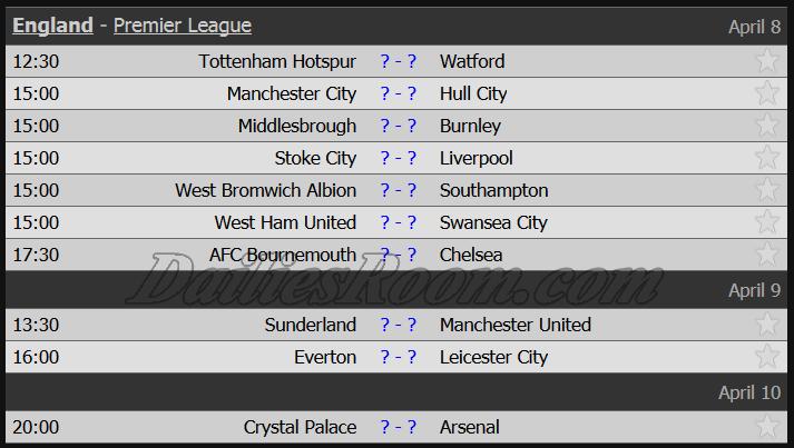 England - Premier League April 8-9-10/2017