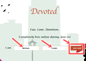 www.devoted.singles - Devoted online Dating Site free Registration/Signup
