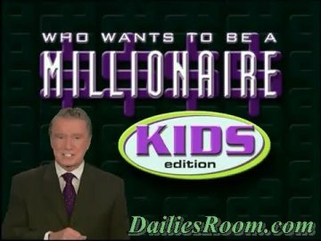 Who wants to be a Millionaire kids Edition | Whiz kids Week Application