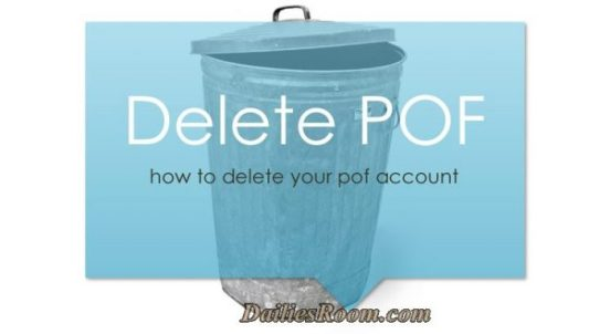How To Hide, Delete or Remove Profile on POF - Delete Your Account