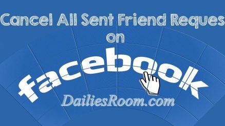 How to Cancel Already Sent Facebook Friends Request - FB.com