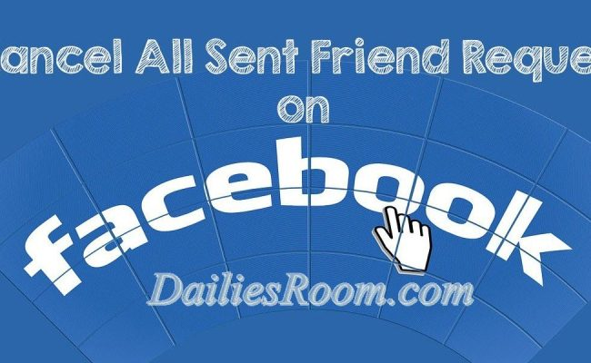 How to Cancel Already Sent Facebook Friends Request - FB.com