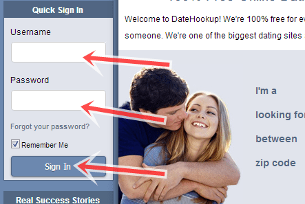 Datehookup log in