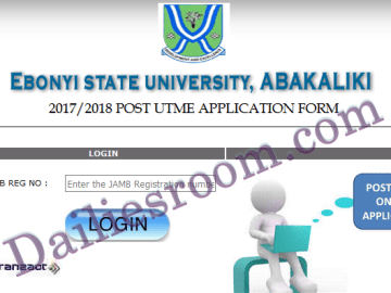 How to Apply for EBSU Post Utme | EBSU Screening Form 2017/2018