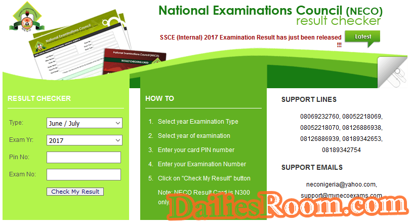 NECO Releases 2017 June/July Results | Check 2017 NECO Results Online