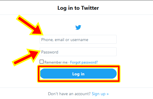 www.witter.com Login Steps To Change Twitter Username