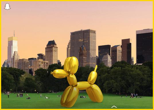 Snapchat Jeff Koons Augmented Reality Feature - Jeff Koons bio & Net Worth