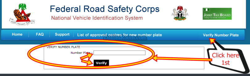 How To Verify Plate Number - nvis.frsc.gov.ng/NumberPlateVerification