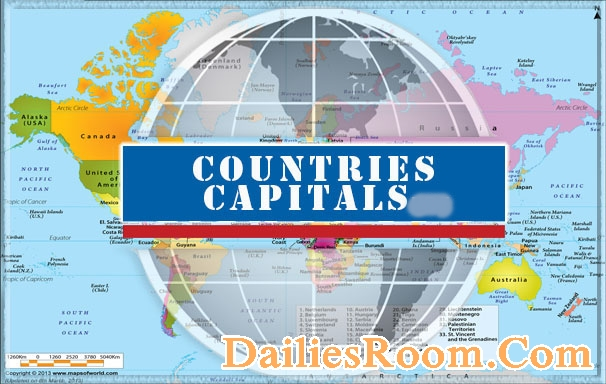 All Country Names List With Capitals | World countries and Capital Cities