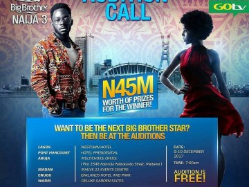 Big Brother Naija Season 3 | 2018 BBNaija Audition Dates & Requirements