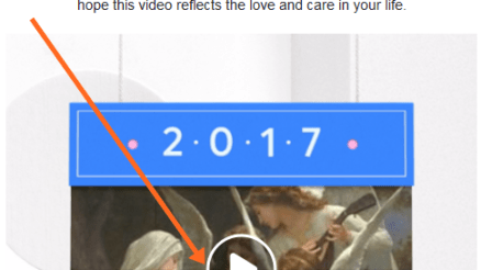 Year in Review Video on Facebook