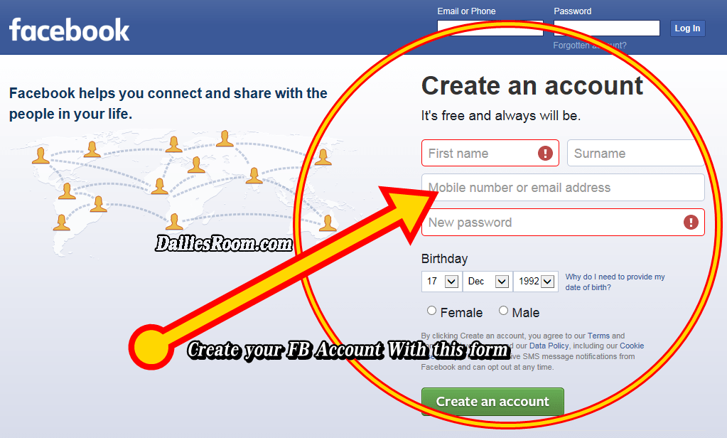 Facebook com log sing up in www Facebook Dating