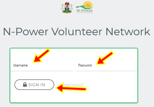 Npower Online Sign in | Login Npower | npvn.npower.gov.ng Login Portal