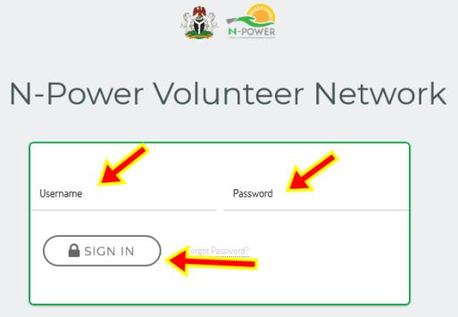 Npower Online Sign in | Login Npower | npvn.npower.gov.ng Login Portal