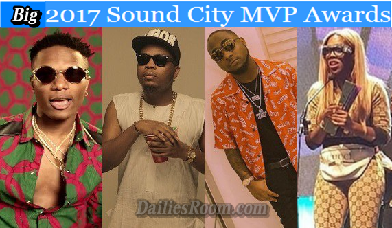 SOUNDCITY MVP Awards Winners Full List - Davido Wins 3 Awards