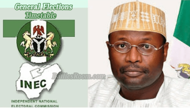 INEC Timetable For 2019 General Elections by INEC Chairman