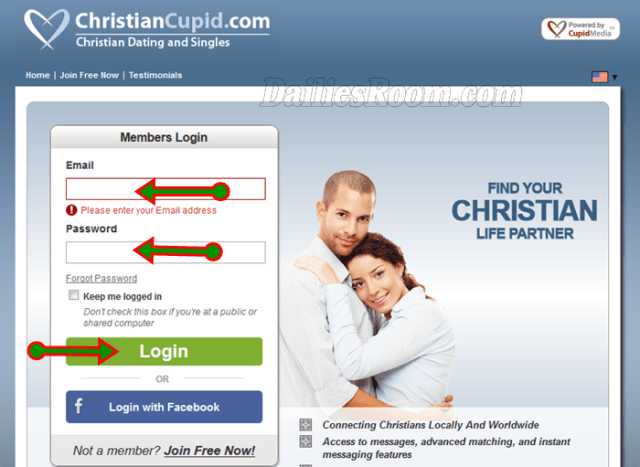 ChristianCupid Dating Site Sign Up, Login