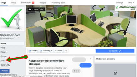 How to change facebook page name url