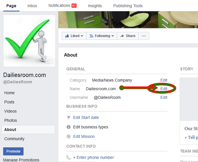 How to Edit or Change A Facebook Business Page Name