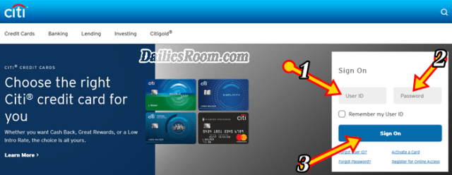 How to Login CitiBank online banking - Internet Banking, Credit Card