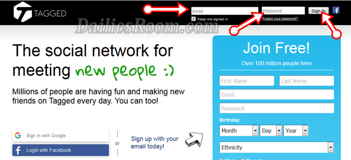 Tagged Sign Up New Account | Tagged.com Login | Tagged Download