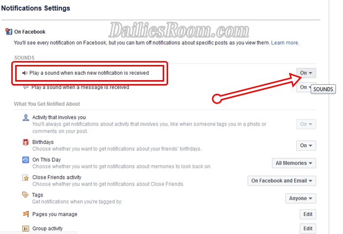 How to Turn On Facebook Notification Sounds 2018 | Turn off/On FB sounds