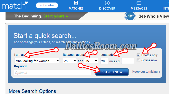 How To View Match.com Without Signing Up - www.match.com Search
