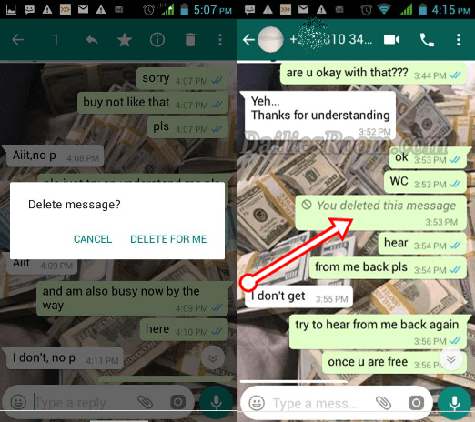Deleting WhatsApp Message - How to Delete WhatsApp Messages Before Reading