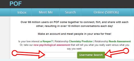 Com www username search pof POF Username