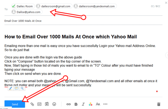 How to Email Over 1000 Mails At Once After Yahoo Email Sign In