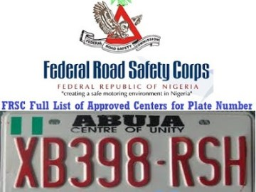 List of Approved Centres For New Number Plate Registration In Nigeria