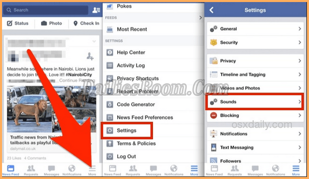 Turn OFF App Sounds In FB 2018 - How To Turn OFF Facebook In-App Sounds