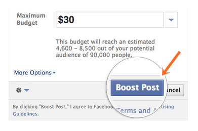 How to Boost Posts on Facebook with Facebook boosted post Images