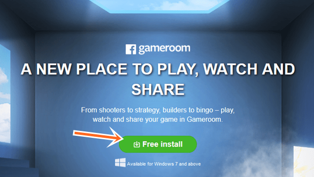 Facebook GameRoom for iPad iPhone, Android & Windows 7    Download