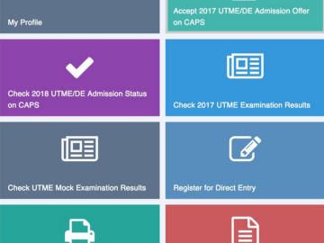 How To Check Admission Status on JAMB CAPS (Video Tutorial)