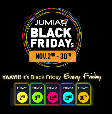 JUMIA BLACK FRIDAY Discounts, Deals & Date For November
