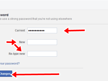 How To Change Facebook Login Password & Email Address or Phone Number